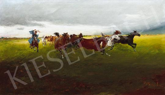For sale  Pataky, László - Horses Gallopping 's painting