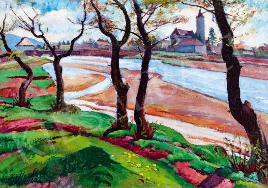 For sale Ziffer, Sándor - The Brook Zazar in Nagybánya, 1942 's painting