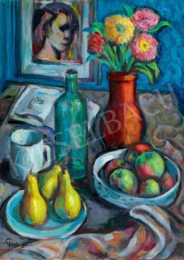 Schönberger Armand - Műtermi csendélet gyümölcsökkel