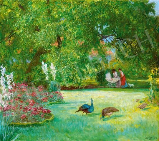 Eladó  Jendrassik Jenő - Kastélypark, 1913 festménye