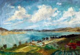 Szőnyi István - Felhők a Duna felett (Zebegényi Dunakanyar)