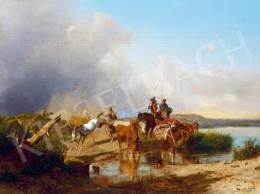 Markó András - Olasz táj, 1868