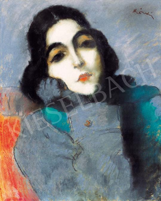 Rippl-Rónai József - A zongoraművésznő (Ticharich Zdenka) festménye