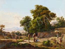 Id. Markó Károly - Romantikus táj (Ruth és Boáz találkozása), 1859 körül