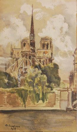 Ismeretlen művész G. Langlinay jelzéssel - Rálátás a templomtérre