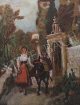Burchard Bélaváry István - Hölgy szamárral