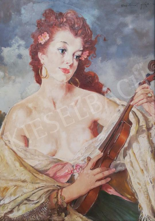 For sale Szánthó, Mária - Lady with Violin 's painting