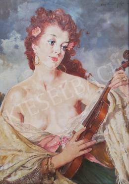 Szánthó Mária - Hölgy hegedűvel
