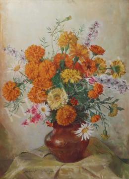 Szánthó, Mária - Flower Still Life, 1983