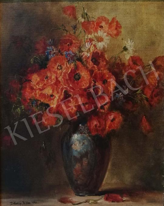 Eladó  Dolányi Benczúr Ida - Pipacsos csendélet, 1942 festménye