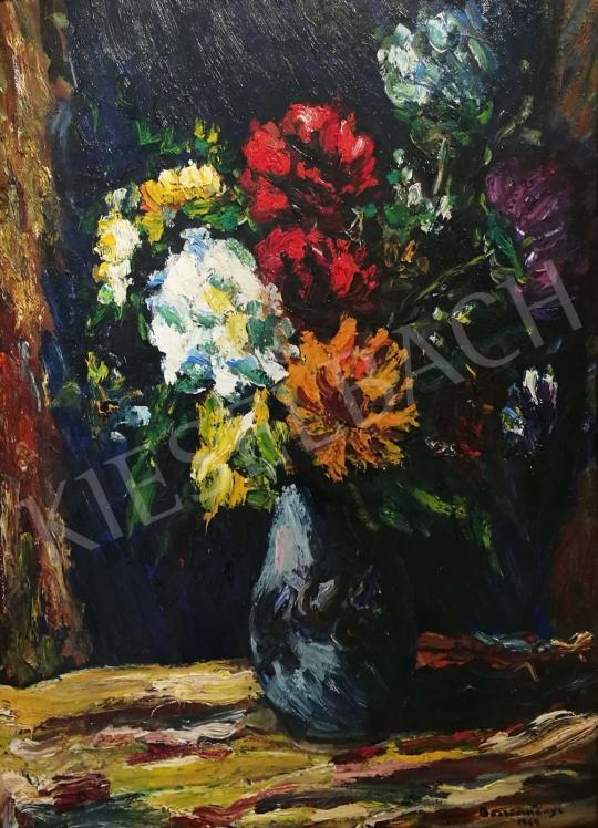 Eladó  Böszörményi Gábor - Nyári virágkompozíció, 1964 festménye