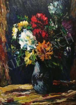 Böszörményi Gábor - Nyári virágkompozíció, 1964