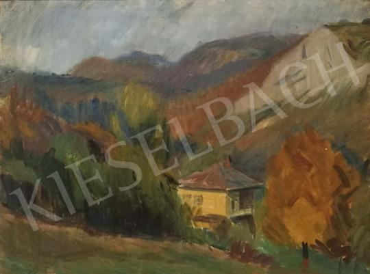 For sale  Országh, György - Landscape with House and Trees, 1956 's painting