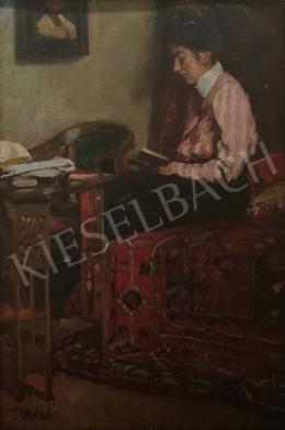 Mérő István - Olvasó nő enteriőrben
