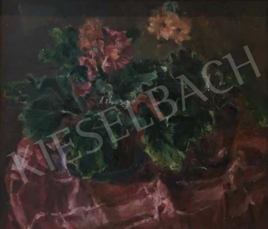 Eladó  Frank Frigyes - Asztali csendélet primulákkal festménye