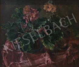 Frank Frigyes - Asztali csendélet primulákkal