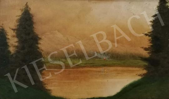 For sale Szepesi Kuszka, Jenő - Landscape with Hills and Pine Trees 's painting