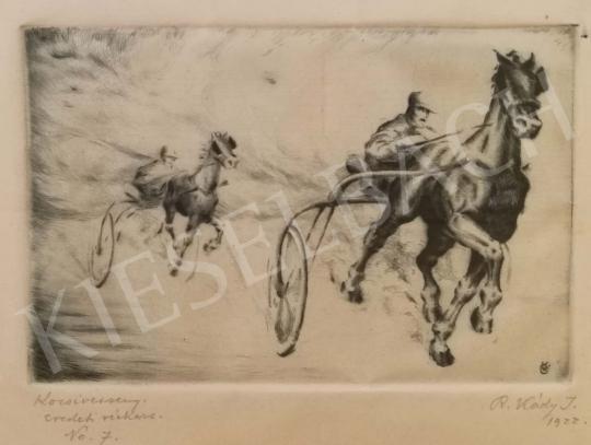 Réfy-Kádi János - Kocsiverseny festménye