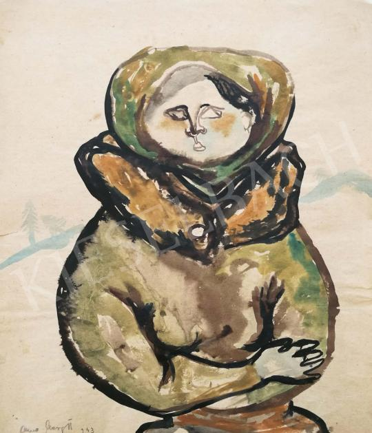 Anna, Margit - Winter Feeling, 1943 painting