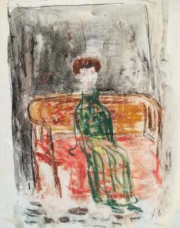 Anna Margit - Padon ülő férfi (Várakozás), 1936