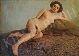 Mátrai, Vilmos - Lying Female Nude