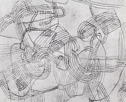 Vajda Júlia - Labirintus világos alapon, 1963