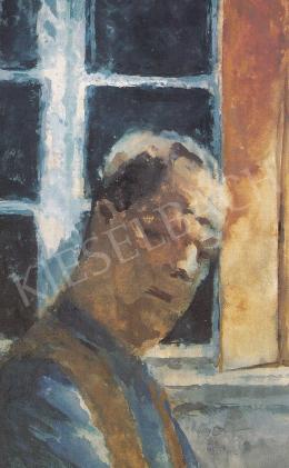 Szőnyi István - Önarckép ablak előtt