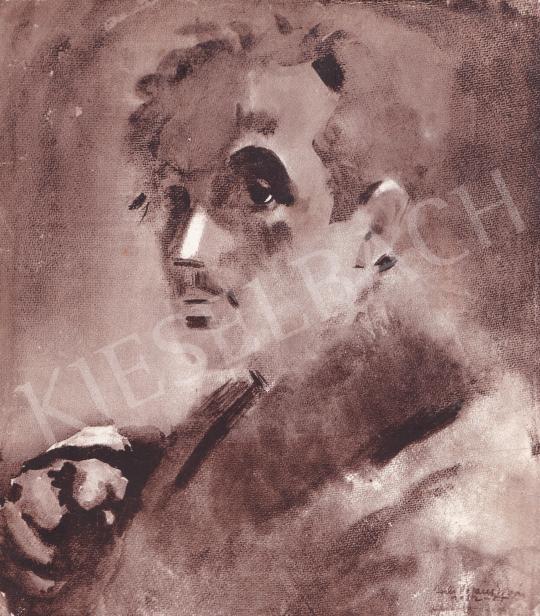 Csebi Pogány István - Önarckép festménye