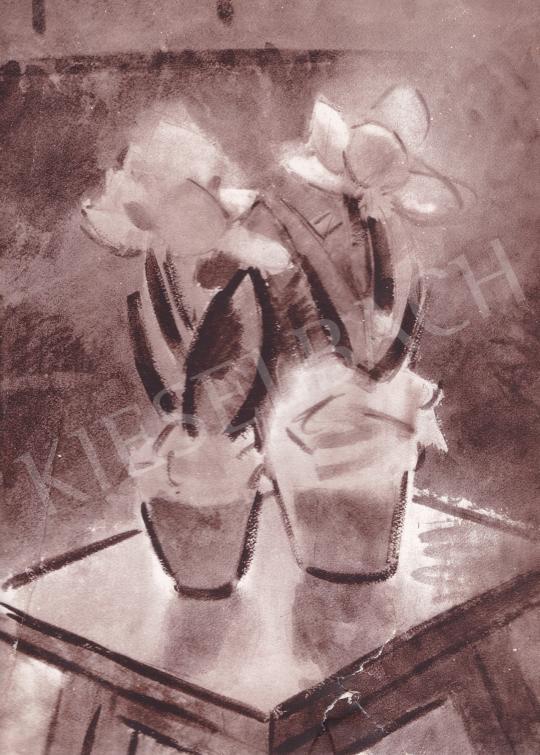 Csebi Pogány István - Tulipánok festménye