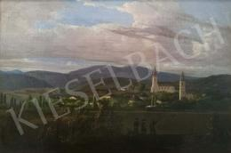 Jakobey Károly - Tarcal látképe, 1859