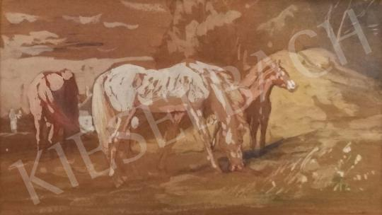 For sale  Lotz, Károly - Horses, 1899 's painting