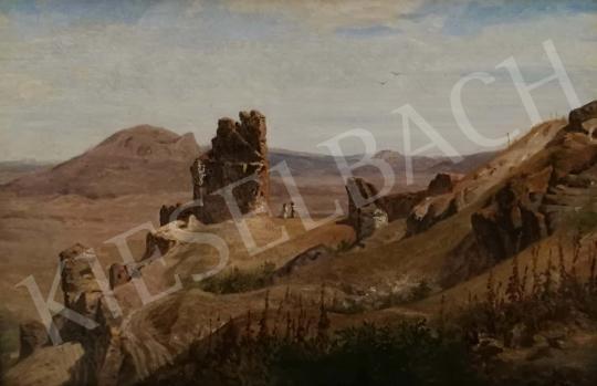 Eladó Telepy Károly - Romantikus táj várrommal, 1891 festménye