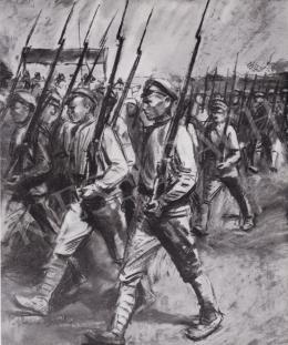 Ék Sándor - Komszomolok indulása a frontra, 1940