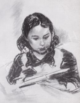 Ék Sándor - Olvasó kislány, 1940