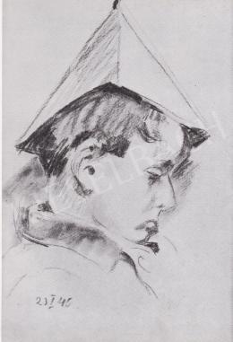 Ék Sándor - Papírcsákós kisfiú portréja, 1940