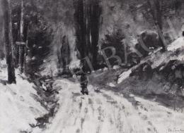 Ék Sándor - Téli táj, 1954