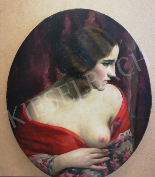 Kövér Gyula - Ledér hölgy (Csábító tekintet) festménye