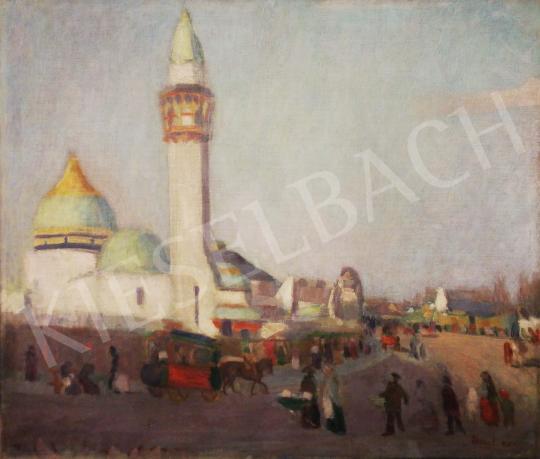 Eladó  Ismeretlen művész Aknay F. jelzéssel - Algír városi jelenet festménye