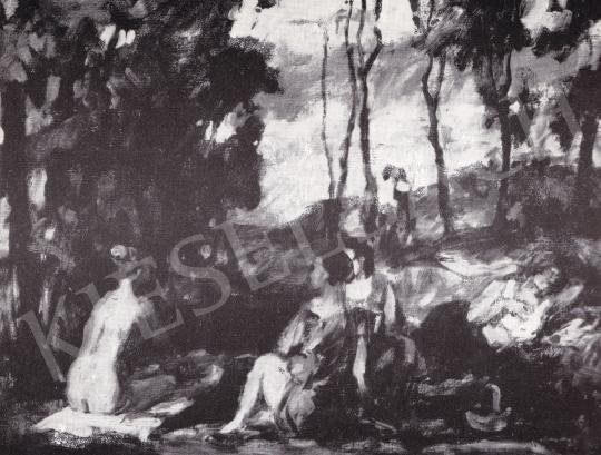 P. Bak János - Erdős Jelenet festménye