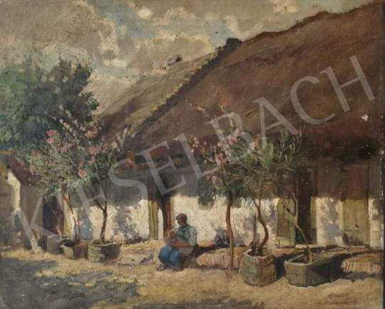 For sale Ujváry, Ferenc - Village Courtyard 's painting