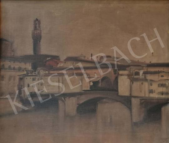 Eladó  Ismeretlen művész Kardos N. jelzéssel - Folyópart, 1920 festménye