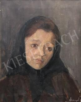 Szendy, Arisztid - Girl with Head Scarf