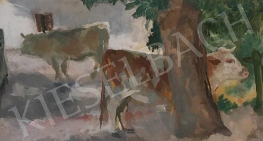 Eladó  Szőnyi István - Falusi udvaron festménye
