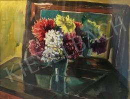 Kohán György - Virágcsendélet krizantémmal
