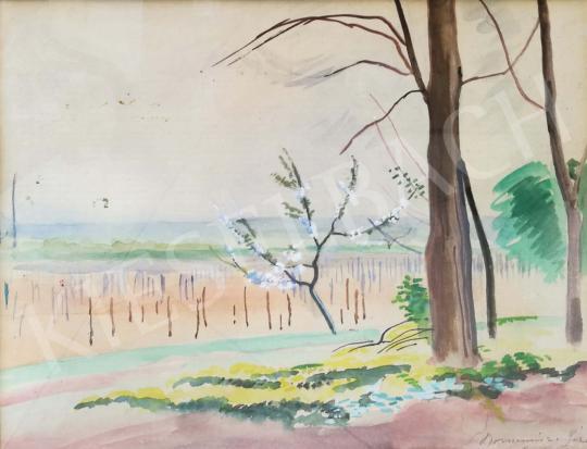 Bornemisza Géza - Koratavaszi táj, 1950 festménye