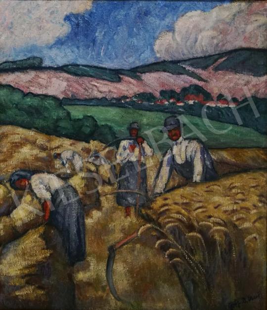 Götz Béla Ernő - Nyári aratás festménye