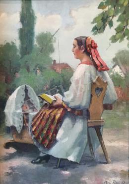 Pécsi-Pilch Dezső - Anya gyermekével (Altatás)