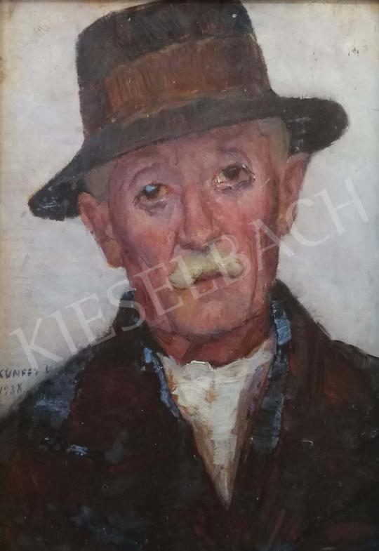 Eladó  Kunffy Lajos - Kalapos férfi, 1938 festménye