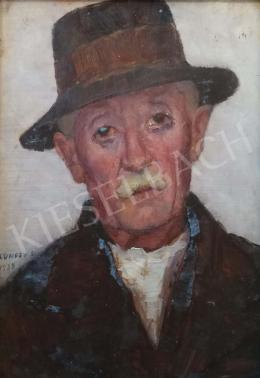 Kunffy Lajos - Kalapos férfi, 1938