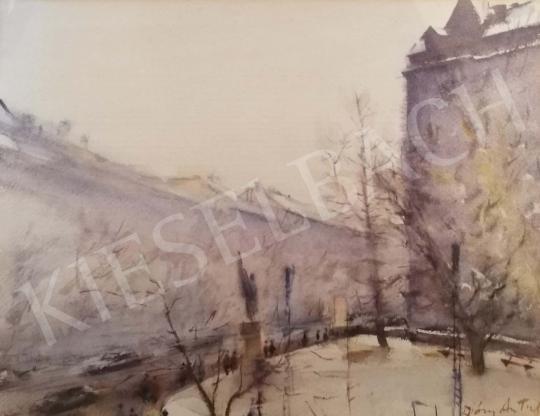 Eladó Diósy Antal - Téli városkép festménye